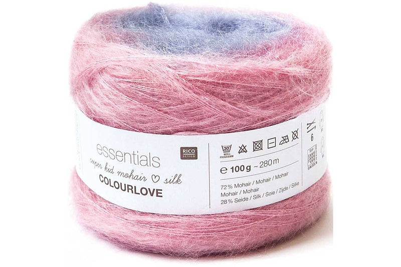 Essentials Super Kid Mohair Loves Silk Colourlove Yarn Rico