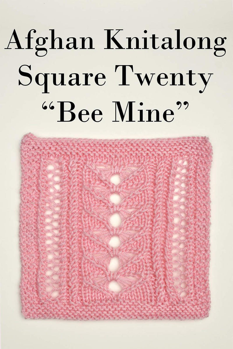 Afghan Knitalong Square 20 - Bee Mine Pattern Universal Yarn