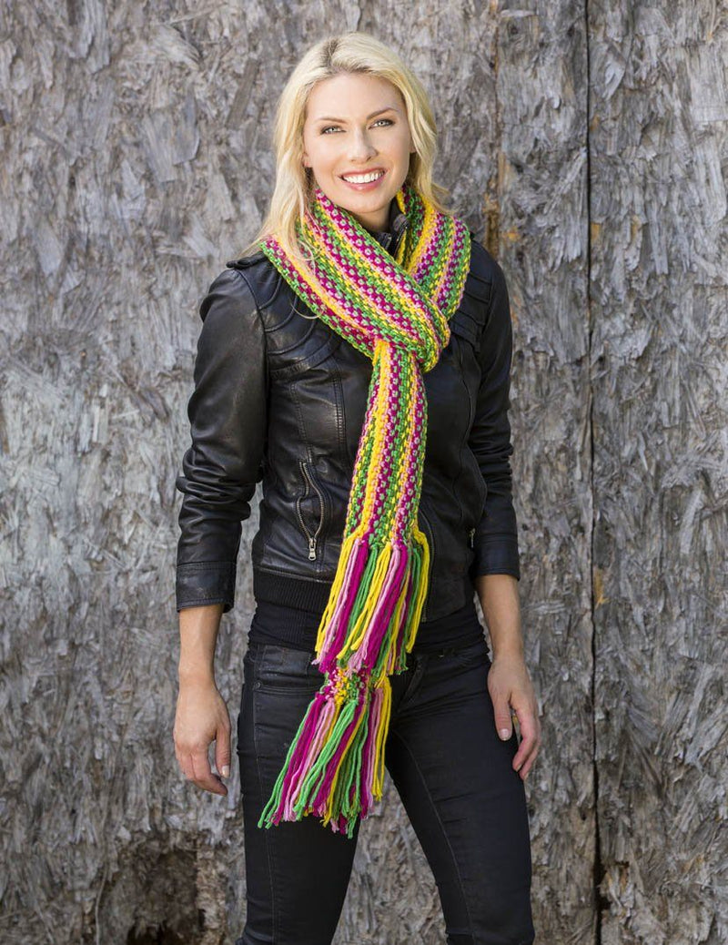 Shaded Garden Scarf Pattern Universal Yarn