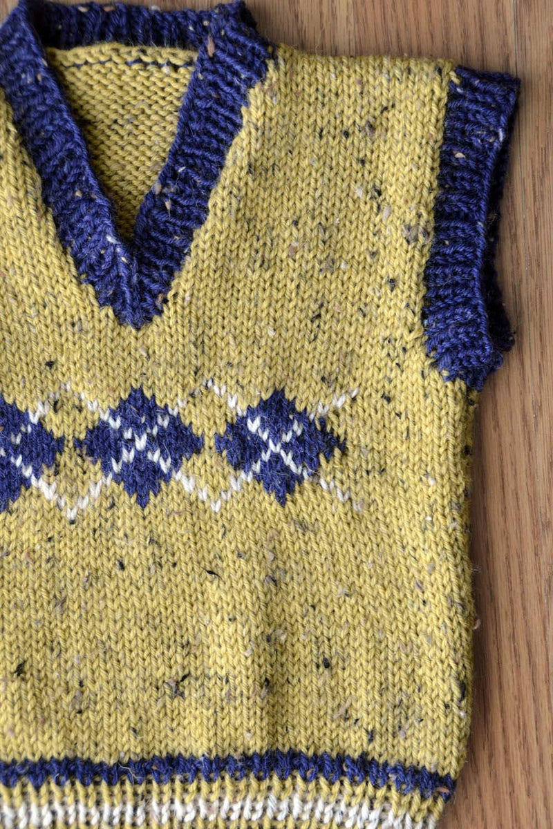 Argyle Junior Vest Pattern Universal Yarn