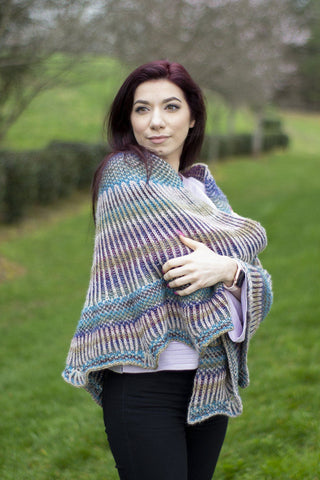Rainbow Bricks Shawl
