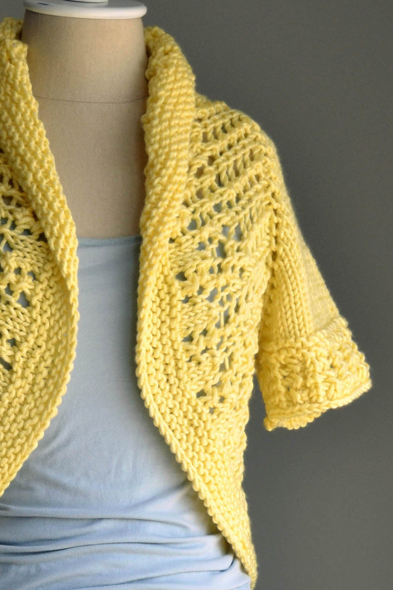 Sunshine Shrug Pattern Universal Yarn