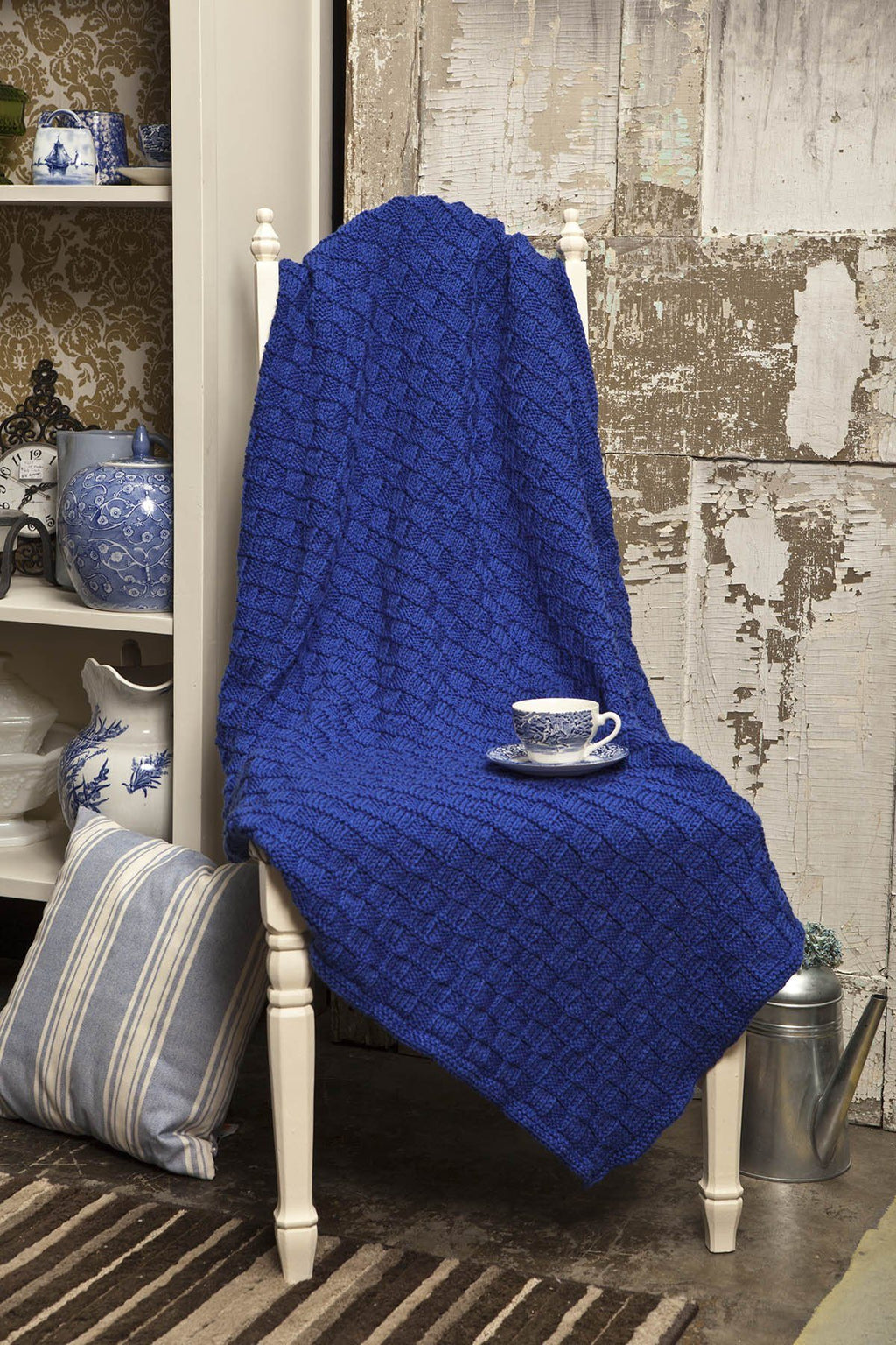 Checkerboard Blanket Pattern Universal Yarn