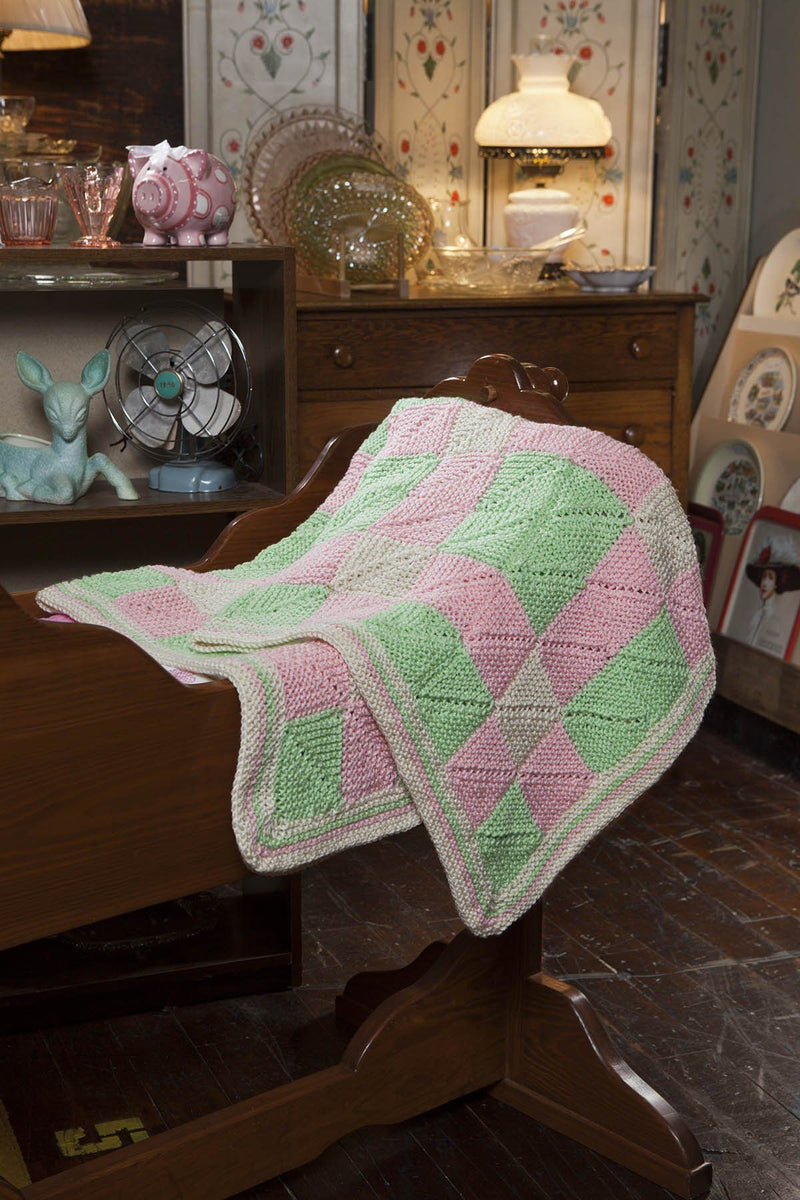 Play Date Miters Afghan Pattern Universal Yarn
