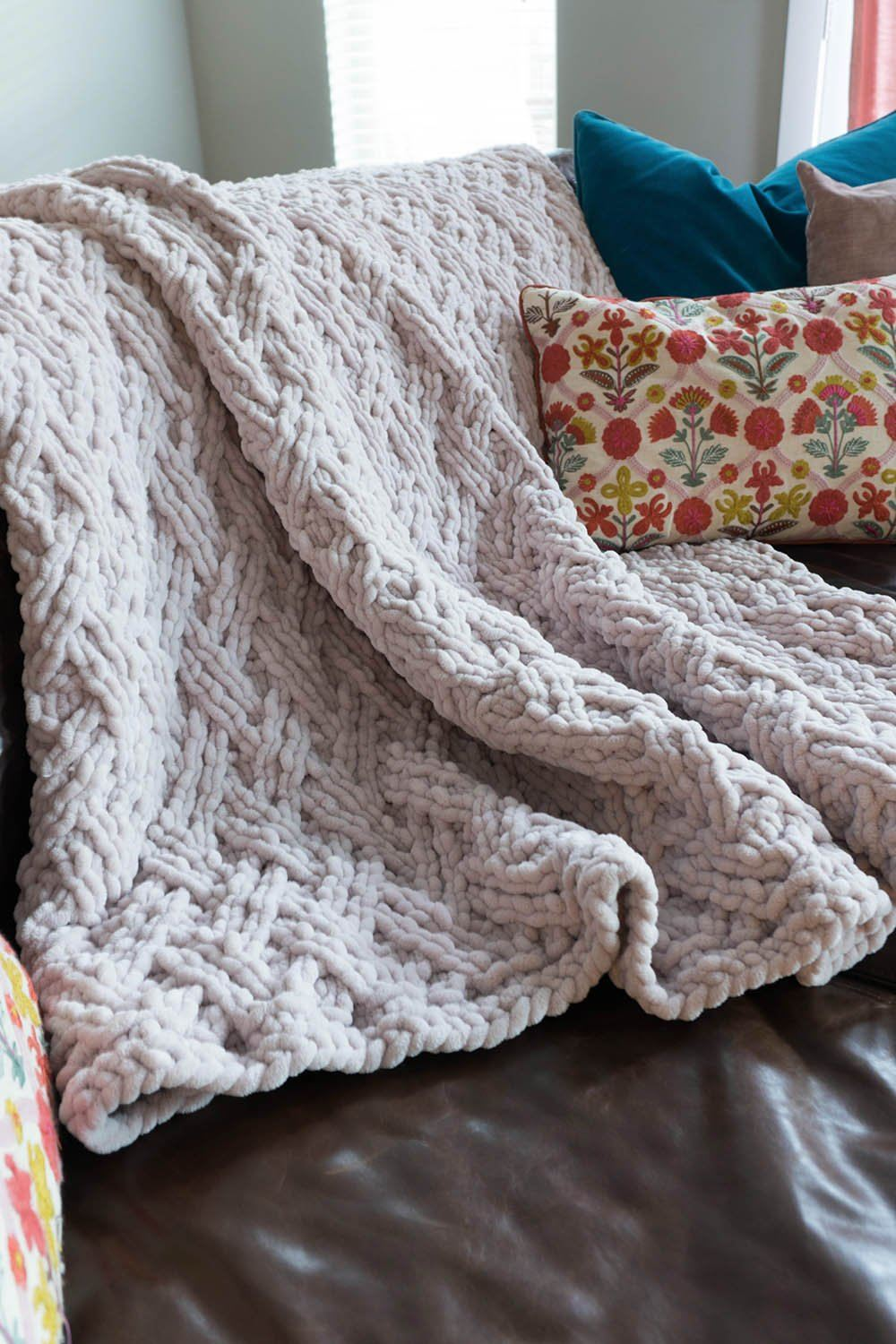 Wickerwork Blanket Pattern Universal Yarn