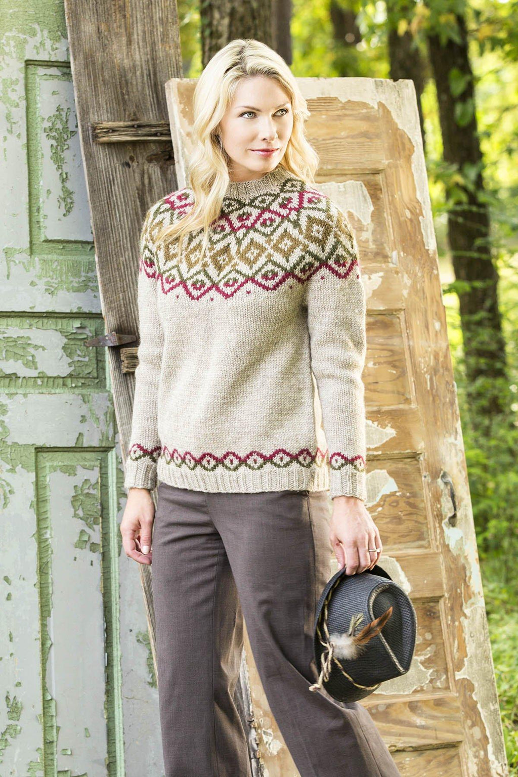 Woodlands Yoke Pullover Pattern Universal Yarn