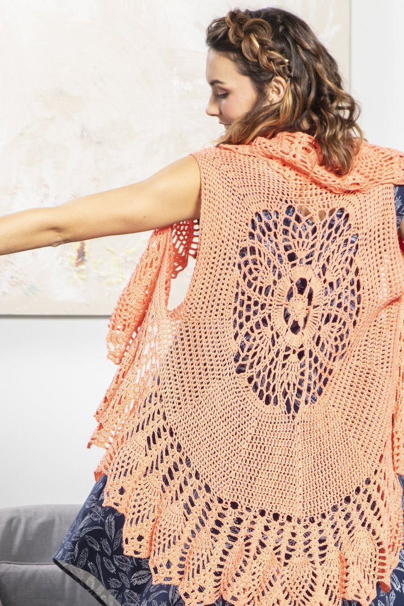 No. 4 Lacy Crochet Vest Pattern Universal Yarn