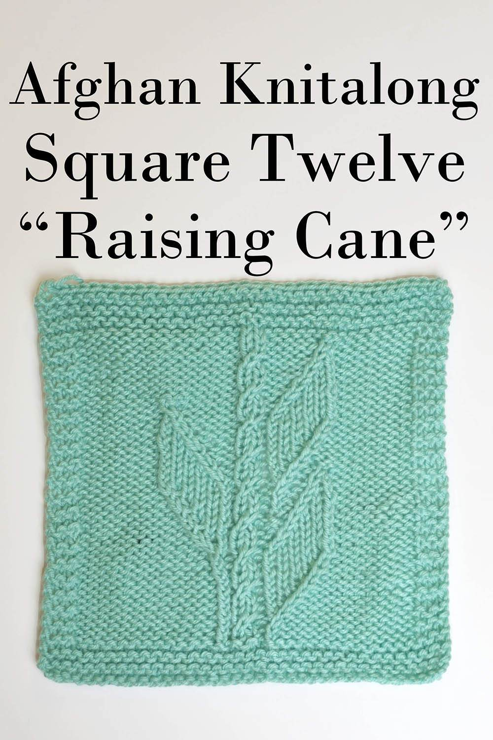 Afghan Knitalong Square 12 - Raising Cane Pattern Universal Yarn