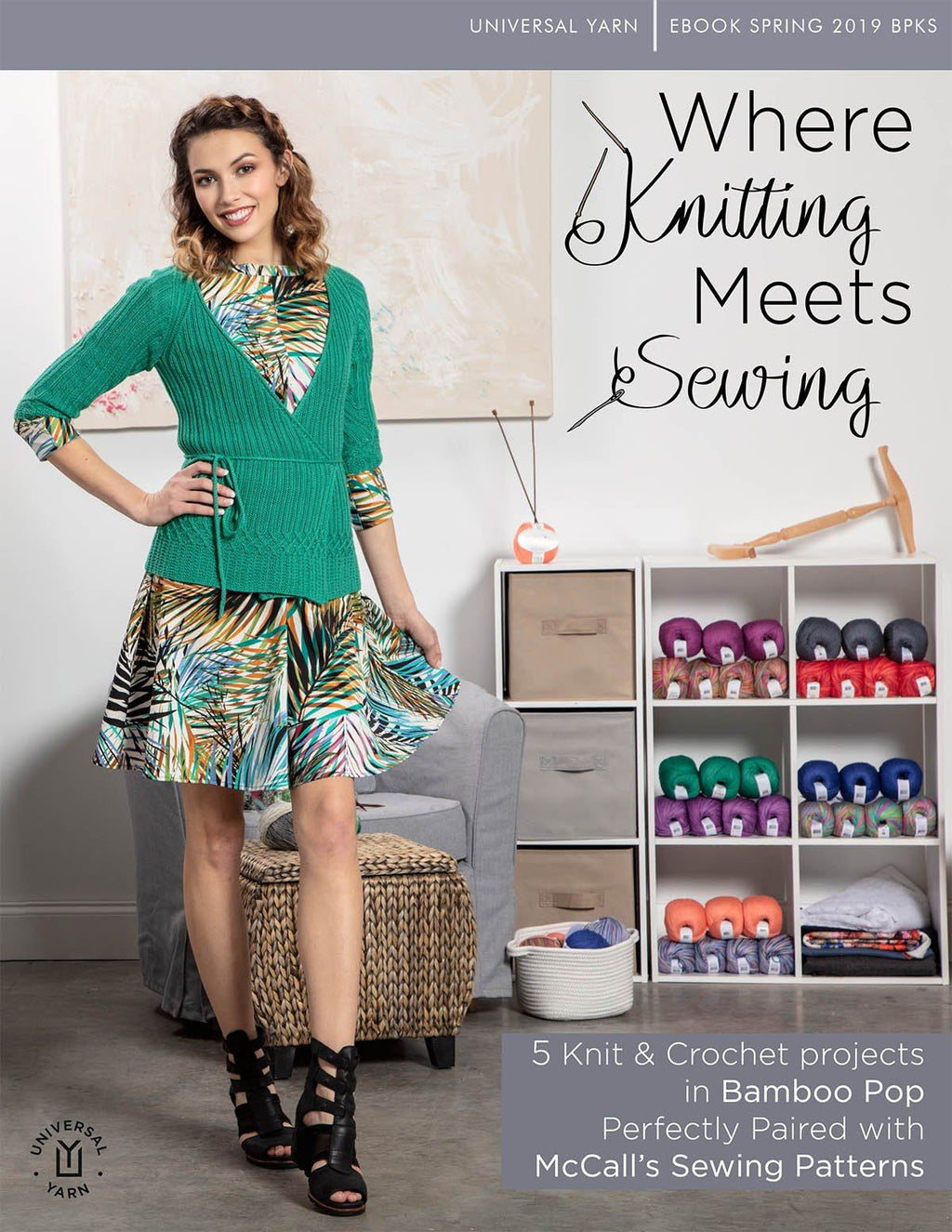 Bamboo Pop: Where Knitting Meets Sewing Pattern Universal Yarn