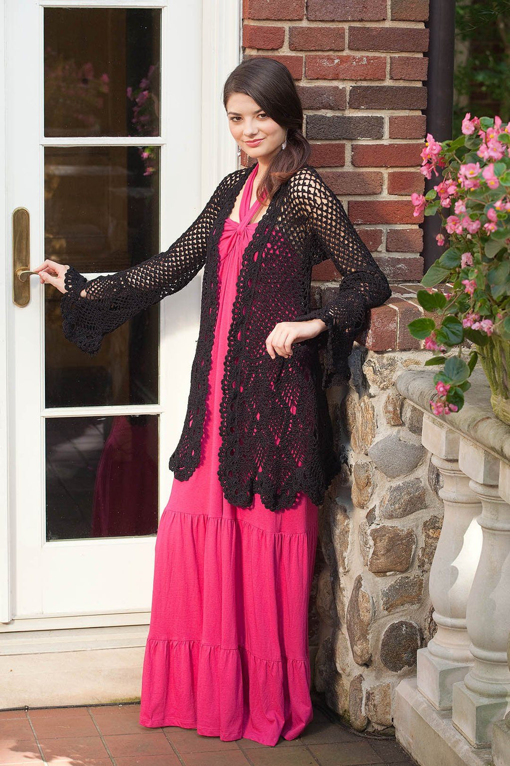 Black Tulips Jacket Pattern Nazli Gelin