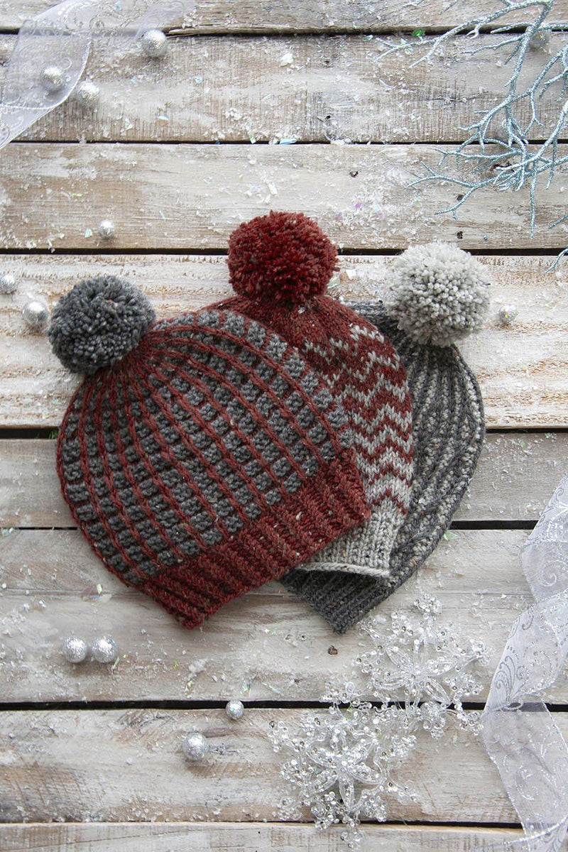We Three Hats Pattern Universal Yarn