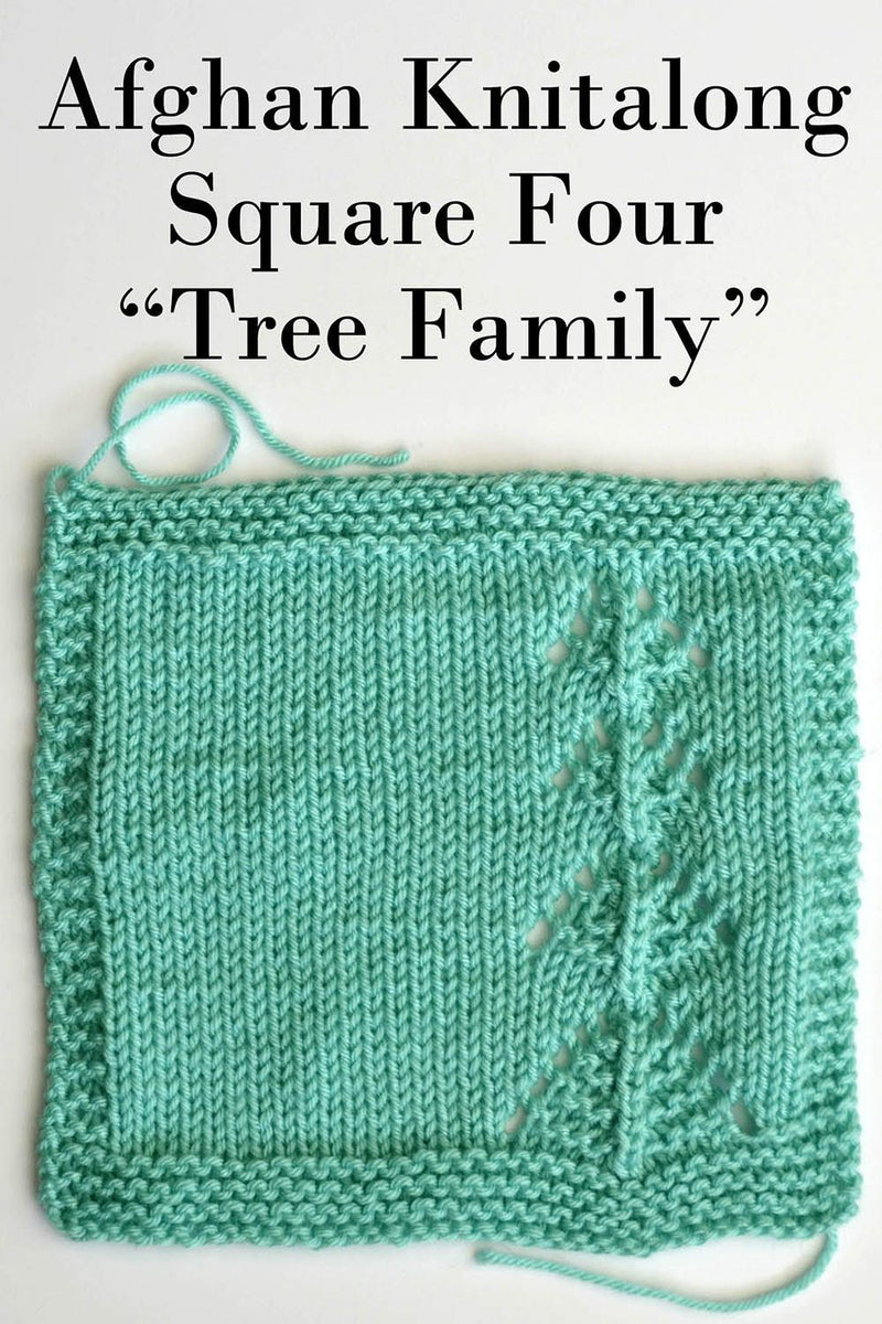 Afghan Knitalong Square 4 - Tree Family Pattern Universal Yarn