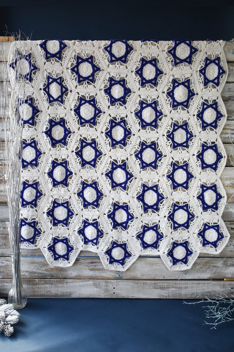 Hanukkah Throw Pattern Universal yarn