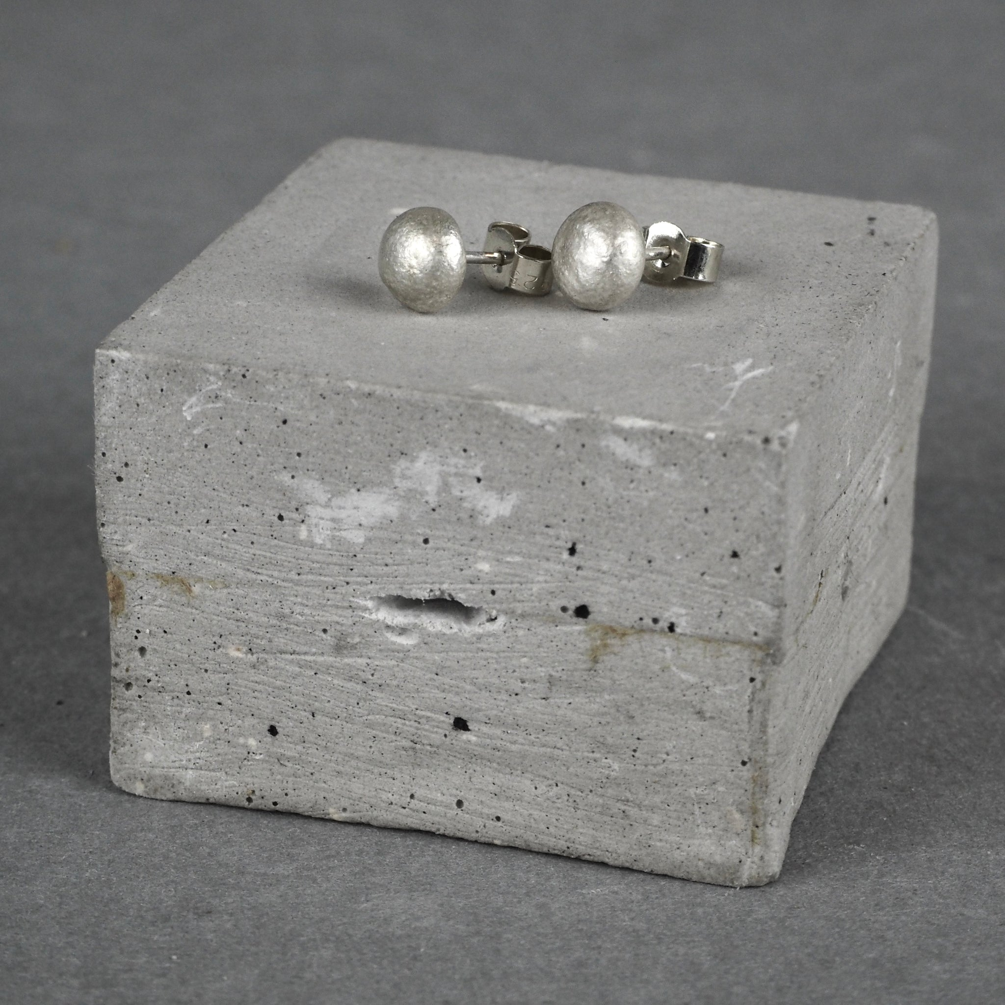 Silver Pebble Studs