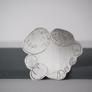 Etched Pebble Brooch