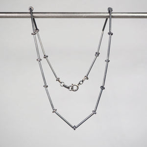 Oxidised Silver Coast Line Necklace & Bead