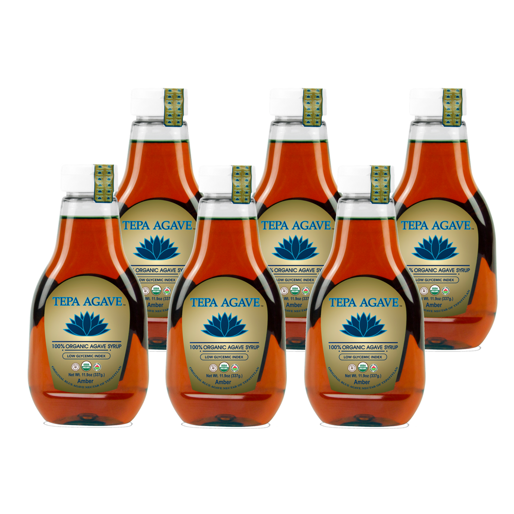6 Pack Amber Agave Syrup 11.9oz