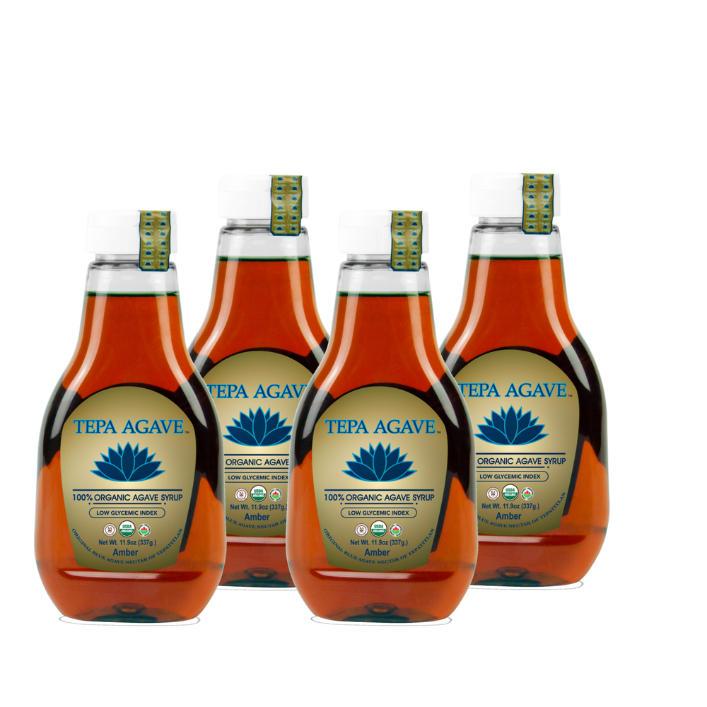 4 Pack Amber Agave Syrup 11.9oz