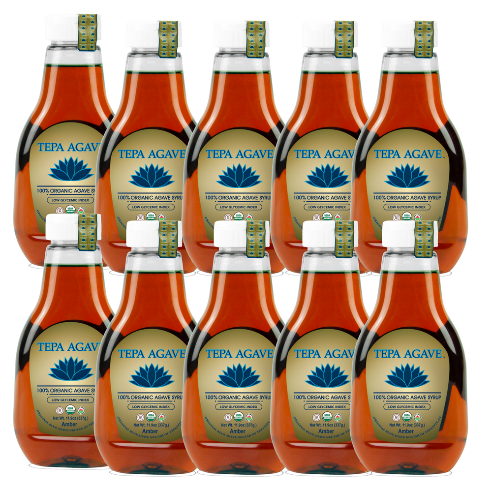 10 Pack Amber Agave Syrup 11.9oz