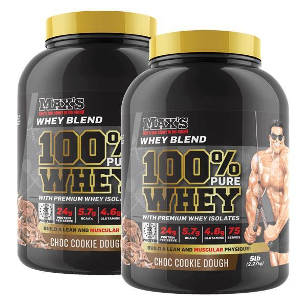 100% Pure Whey Protein Twin Pack - MAX's | Fat Burnerz