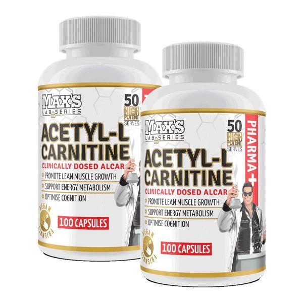 Acetyl L-Carnitine Twin Pack - MAX's | Fat Burnerz