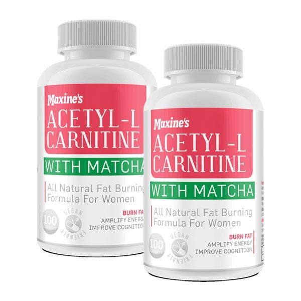 Acetyl-L Carnitine With Matcha Twin Pack - Maxine's | Fat Burnerz