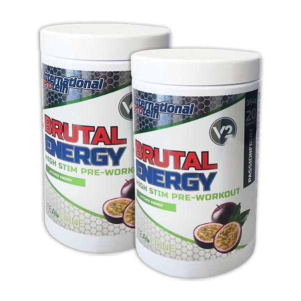Brutal Energy Twin Pack - International Protein | Fat Burnerz