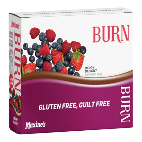 Burn Bar Box of 12 - Maxine's | Berry Delight