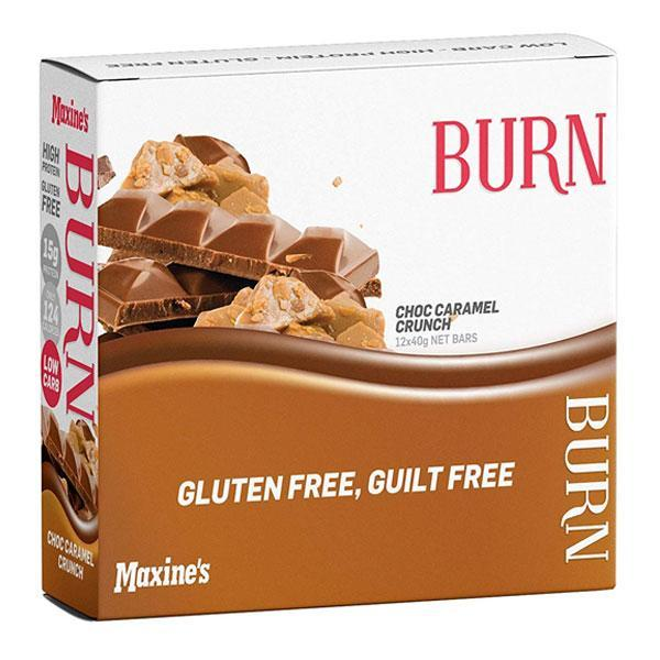 Burn Bar Box of 12 - Maxine's | Choc Caramel Fudge