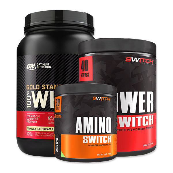 Gold Standard 100% Whey + Power Switch + Amino Switch Bundle