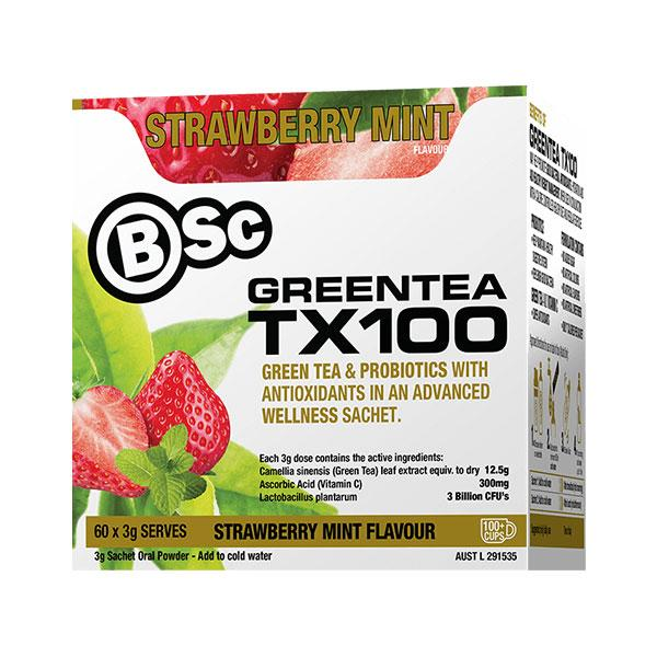 Green Tea TX100 - BSc | 60 Serves | Strawberry Mint