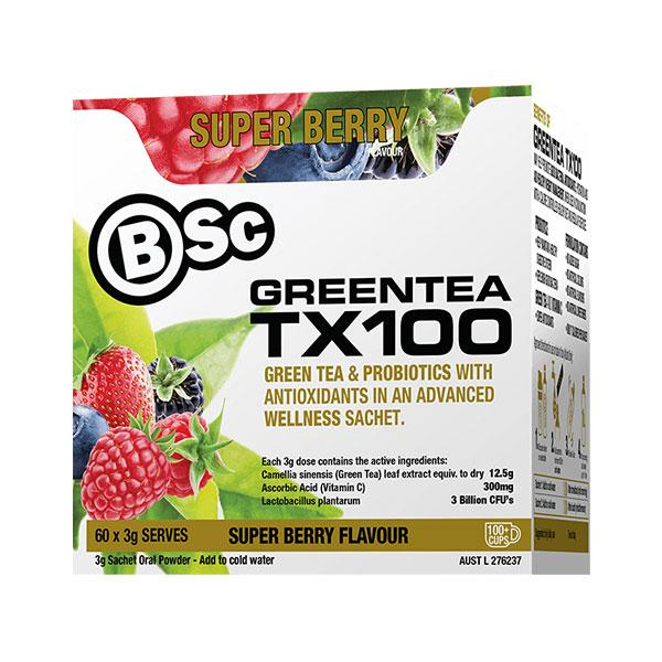 Green Tea TX100 - BSc | 60 Serves | Super Berry