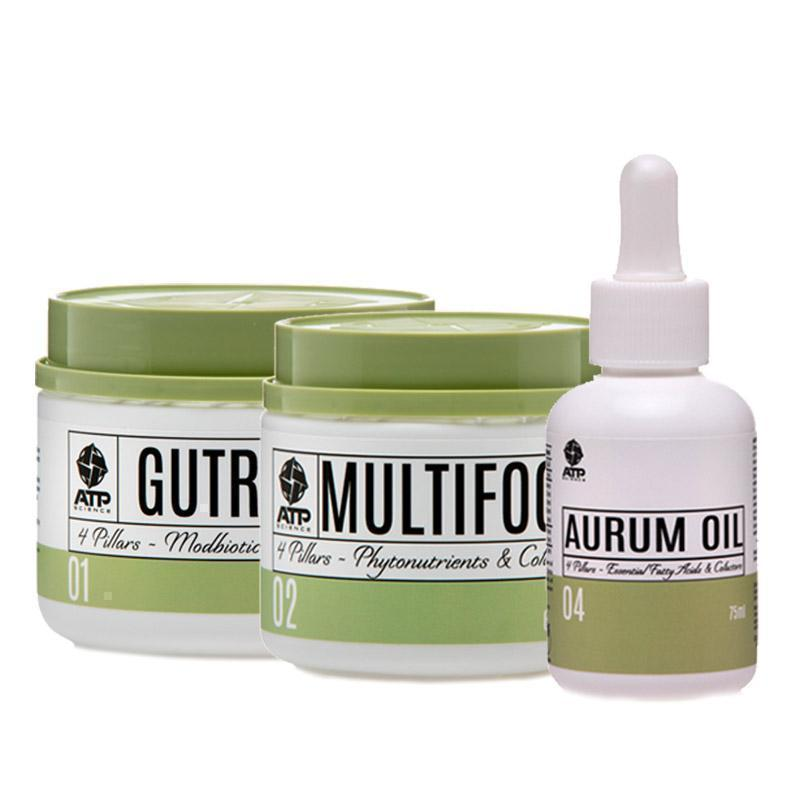 GutRight + Multifood + Aurum Oil Bundle
