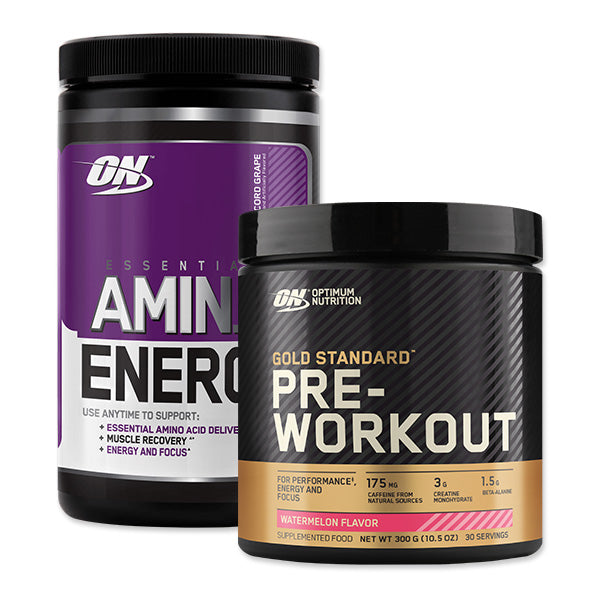 Amino Energy & Gold Standard Pre-Workout Bundle