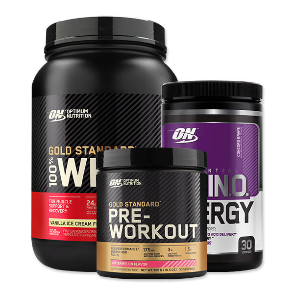 GS 100% Whey 30 Serves + Amino Energy 30 Serves + GS Pre-Workout