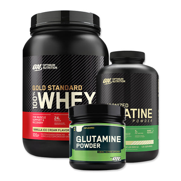 Gold Standard 100% Whey + Creatine Monohydrate + Glutamine Bundle
