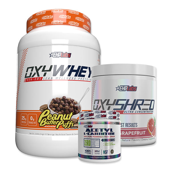 OxyShred + OxyWhey + Acetyl L-Carnitine Bundle