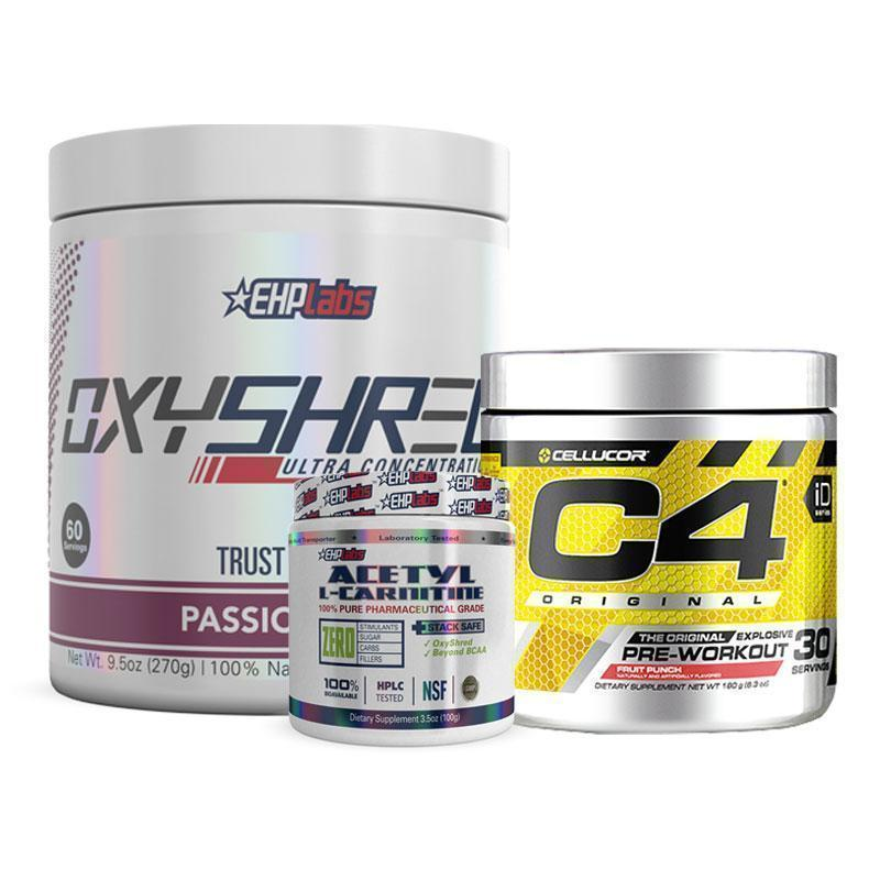 OxyShred + Acetyl L-Carnitine + C4 Original Pre-Workout Bundle