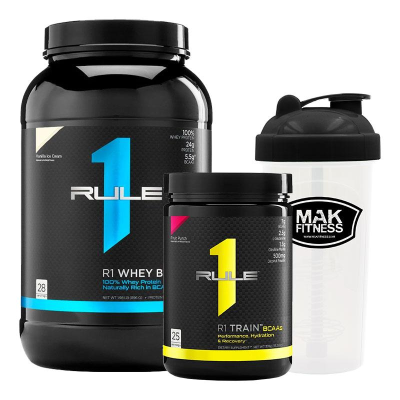 R1 Whey Protein Blend + R1 Train BCAA + MAK Shaker | Fat Burnerz