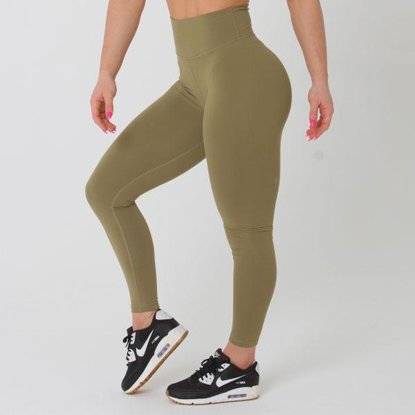Full Length Scrunch Bum - Khaki