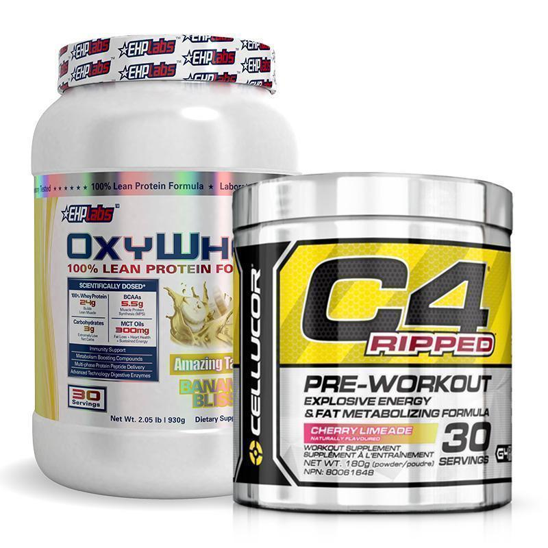 OxyWhey + C4 Ripped Bundle | Fat Burnerz
