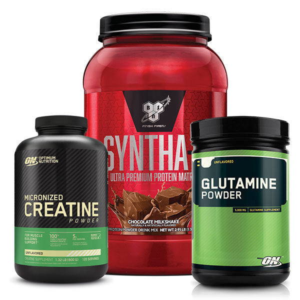 Syntha 6 + Creatine Monohydrate + Glutamine Bundle