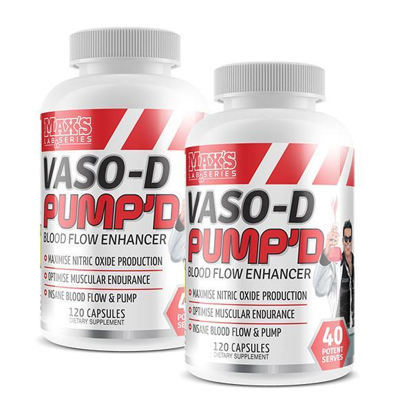 VASO-D PUMP'D Twin Pack - MAX'S | Fat Burner