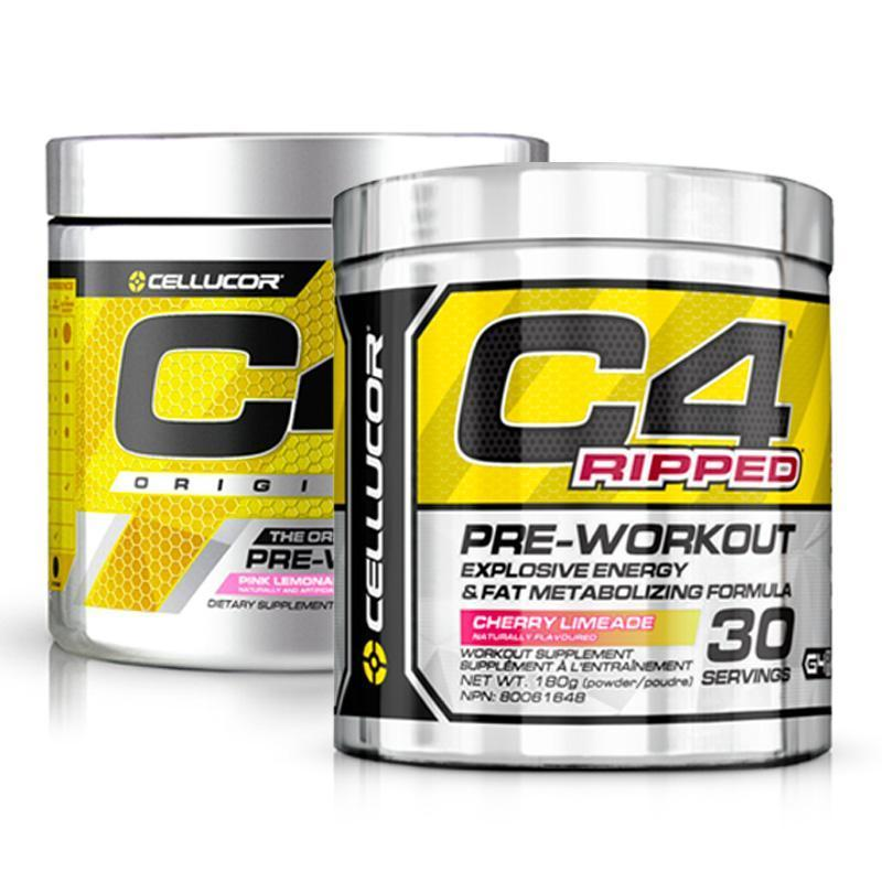 C4 Original Pre-Workout + C4 Ripped Bundle - Cellucor | Fat Burnerz
