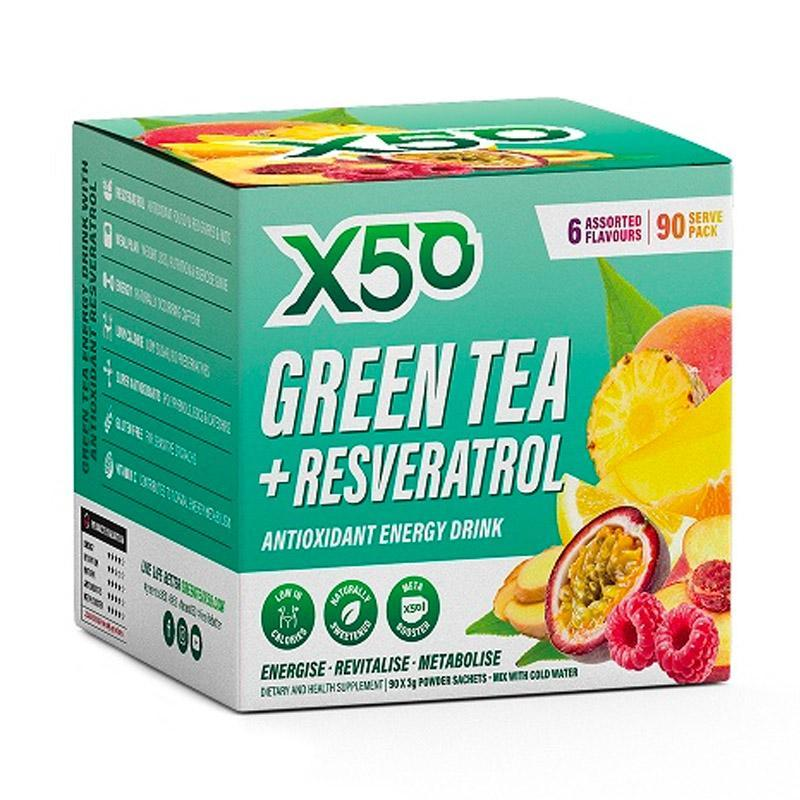 Green Tea + Resveratrol (90 serves) by X50