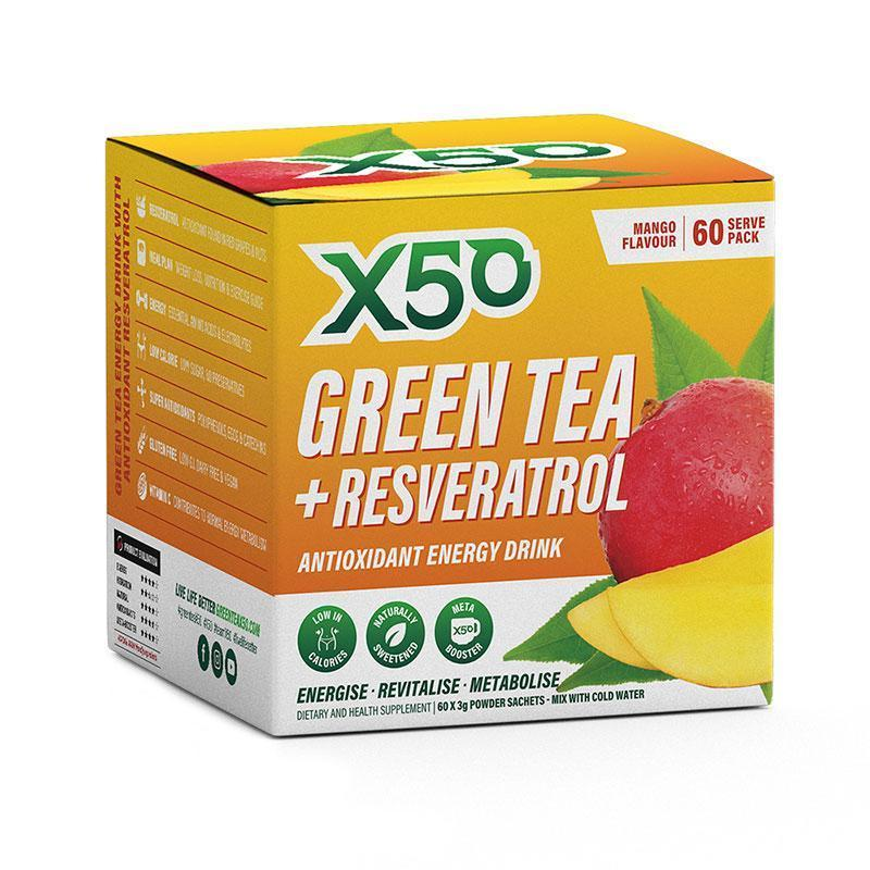 Green Tea + Resveratrol (60 serves) - X50 | Mango