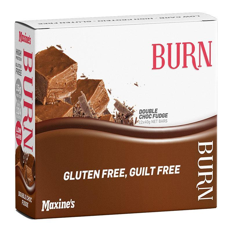 Burn Bar Box of 12 - Maxine's | Double Choc Fudge