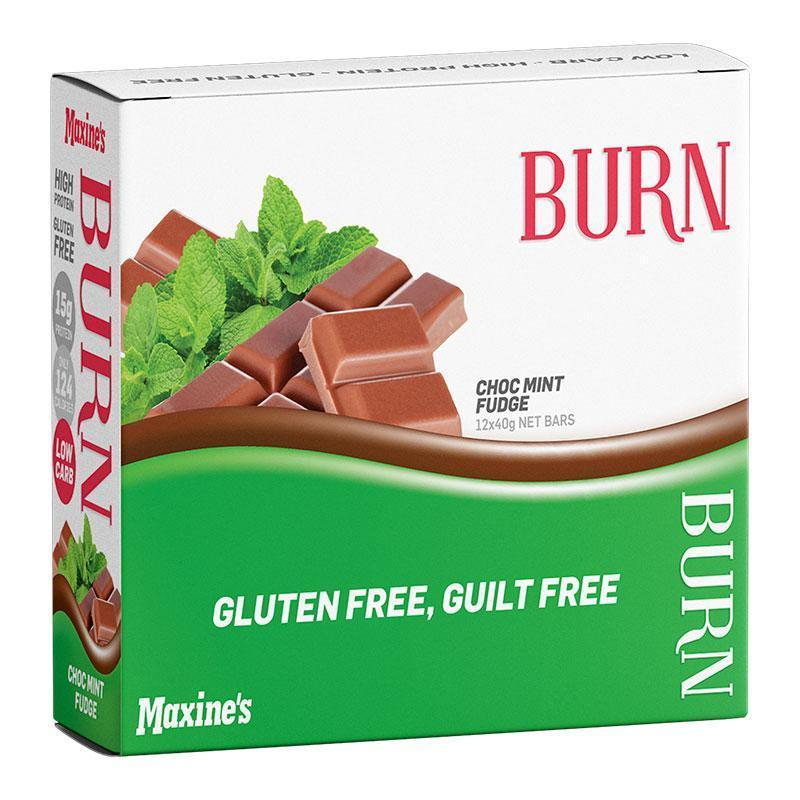 Burn Bar Box of 12 - Maxine's | Choc Mint Fudge