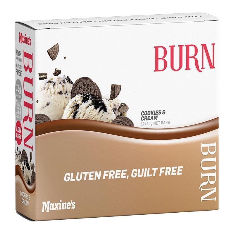 Burn Bar Box of 12 - Maxine's | Cookies & Cream