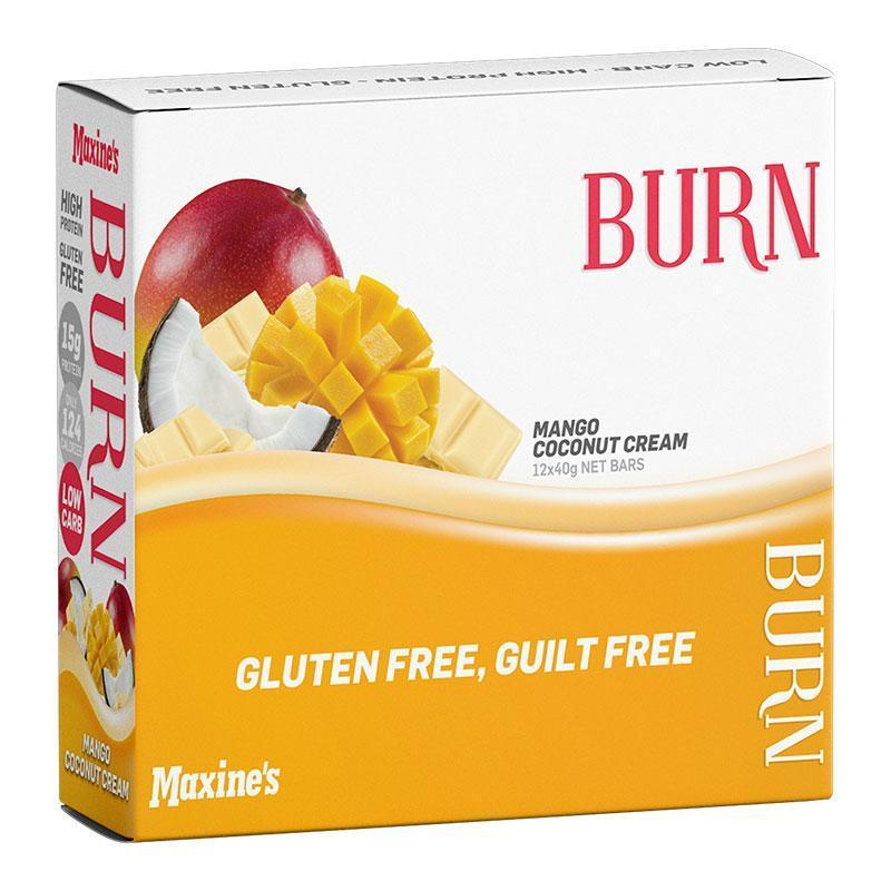 Burn Bar Box of 12 - Maxine's | Mango Coconut Cream